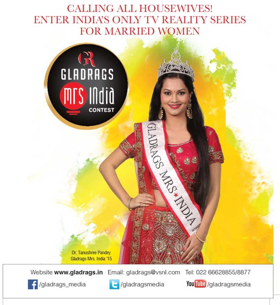 htc Gladrags Mrs.India 2015 Top 3 Finalist